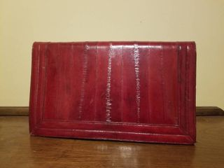 Red Clutch  No Brand  Missing Magnetic Clasp