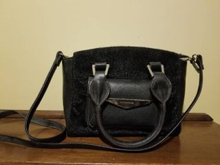Black liz Clairborne Purse  Furry Texture  Good Condition