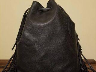 Victorias Secret Drawstring Bag with Fringe