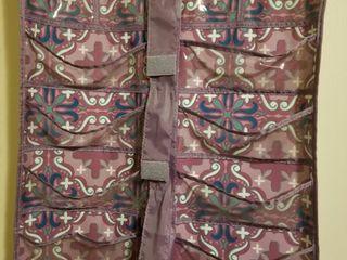 Purple Pattern  Over The Door Hanging Organizer