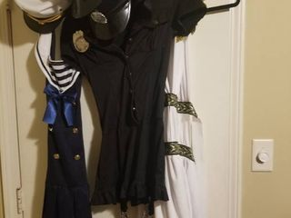lot of Three Costumes  Police Uniform with Two Hats  Sailor With Hat  Goddess with Two Headdresses
