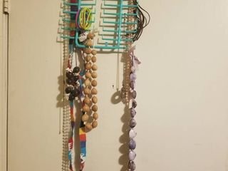 Plastic Necklace Holder with Assorted Necklaces
