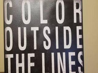 Color Outside The lines Wall Decor