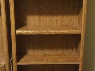large Solid Wood Shelves 71 Inches Tall 30 Inches Wide 12 Inches Deep