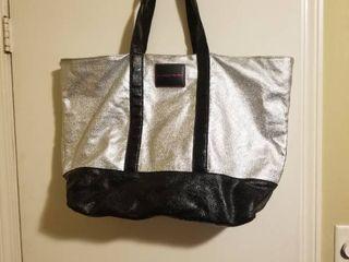 large Shiny Victorias Secret Tote Bag