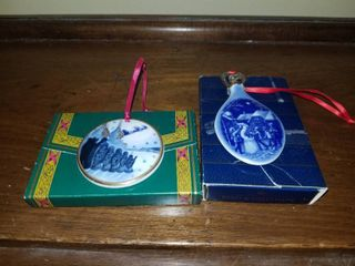 Two Christmas Ornaments  1997 and 1987  See Pictures