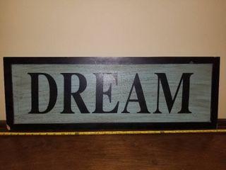 Wooden Dream Wall Decor Sign