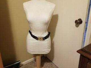Mannequin Dress Form on Wooden Base  Belt Included
