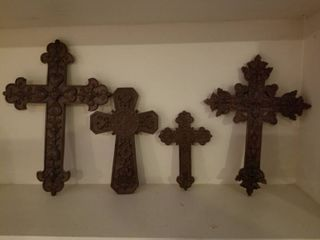 lot of Four Intricate Crosses