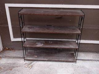 Vintage Metal 4 Tiered Shelf For Displaying Or Storage