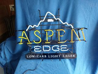 Aspen Edge Neon lager Sign Tested And Working N in Aspen Is Broken Needs Repair