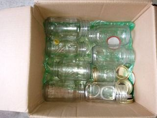 Box lot Of Assorted Mason Jars For Spring Summer Canning Needs