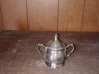 lot Of 5 Vintage Silver Plated Items Teapot Cream Holder Etc