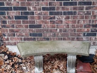 Beautiful 3 Piece Concrete Bench For Outdoor Decor And Use