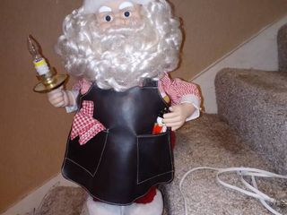 Electric Santa Claus Decoration Tested And Working