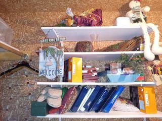 Mega 4 Shelf Closet lot Of Assorted Holiday Decorative Items