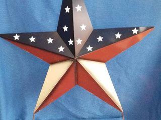 Metal American Star Yard Art