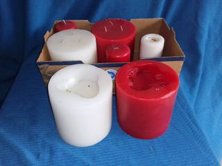 lot of Red and White Candles