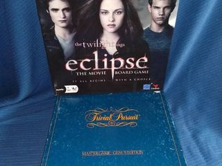 Twilight Eclipse Board Game and Trivial Pursuit Genus Edition