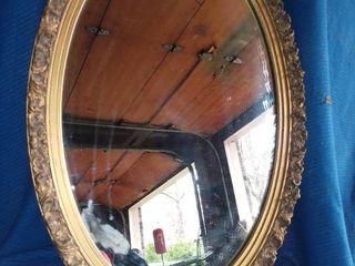 Ornate Gilded Wood Frame Oval Mirror