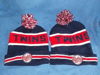 Pair of Minnesota Twins Stocking Caps