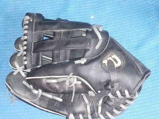 Black leather Wilson Softball Glove  lEFTY