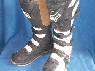 Black and White FOX Racing Motocross Boots Size W8