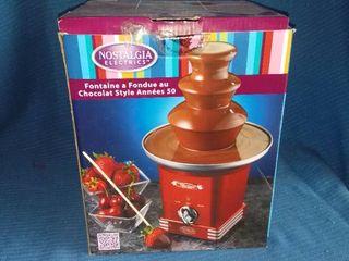 Nostalgia Electrics Chocolate Fondue Fountain