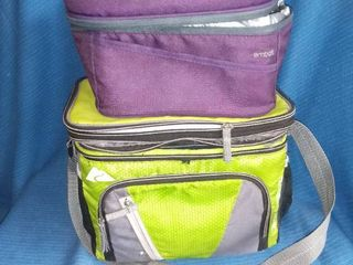 Pair of Insulated lunch Totes