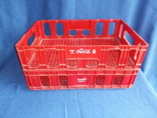 Two Coca Cola Red Plastic Bottle Carriers