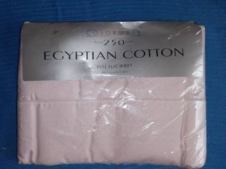 Colormate 250 Thread Count Egyptian Cotton Full Flat Sheet