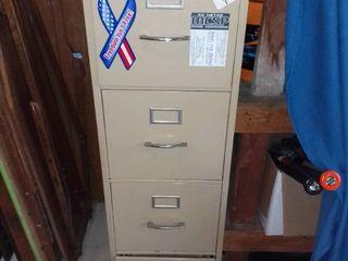 4 Drawer Metal File Cabinet  No Key