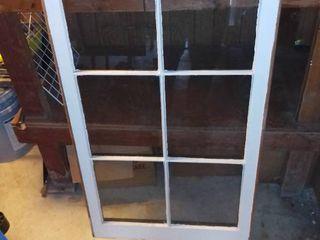 6 Pane Wood Window