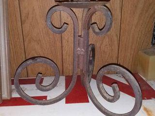Vintage Iron Candle Holder