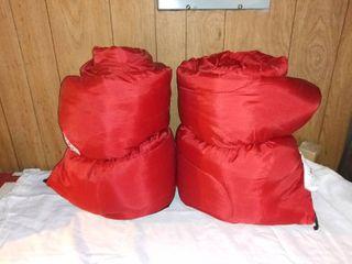 Pair of Red Ozark Trail Sleeping Bags