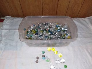 Tote Full of Various Glass Craft Pebbles