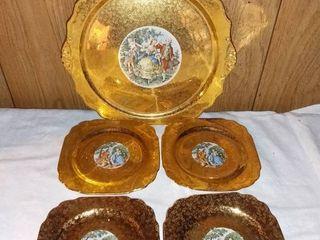 Royal China Warranted 22kt Gold Plates