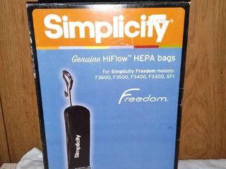 Simplicity Genuine HiFlow HEPA Bags