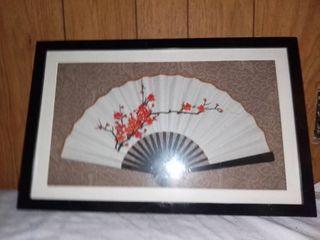 Framed Asian Folding Fan