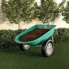 Pure Garden Twin Wheel Garden Wheel Barrow