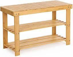Bamboo Shoe Rack Bench