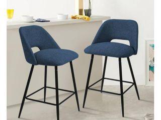 Upholstered Modern Bar Stools SET OF 2