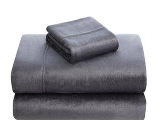 Asher Home Ultra Soft Velvet Plush Sheet Set King Size