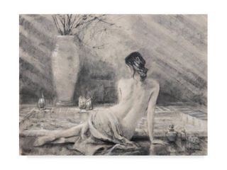 Steve Henderson Before The Bath Canvas Art