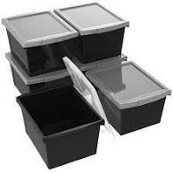 Storage Containers w  lids SET OF 4