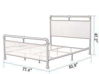 Corvus lorraine Vintage Style Metal Bed w  Mesh Accents King Size