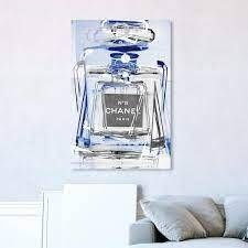 Oliver Gal large Infinite Glam Sapphire Silver Wall Art Canvas