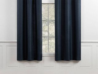 Chaps Home lise Solid Textured linen look Grommet Curtain Panels SET OF 2