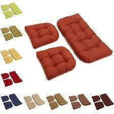 Blazing Needles All Weather U Shape Outdoor Cushions