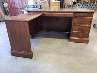 l Shaped Wooden Desk